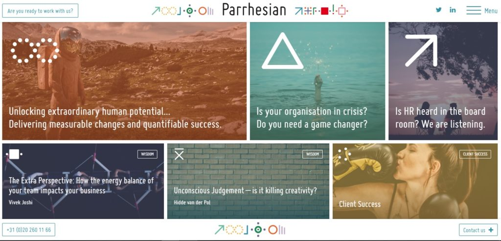 Parrhesian website home page